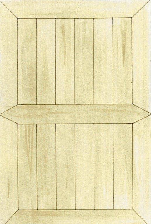 Frisen kan lægges med en eller to planker