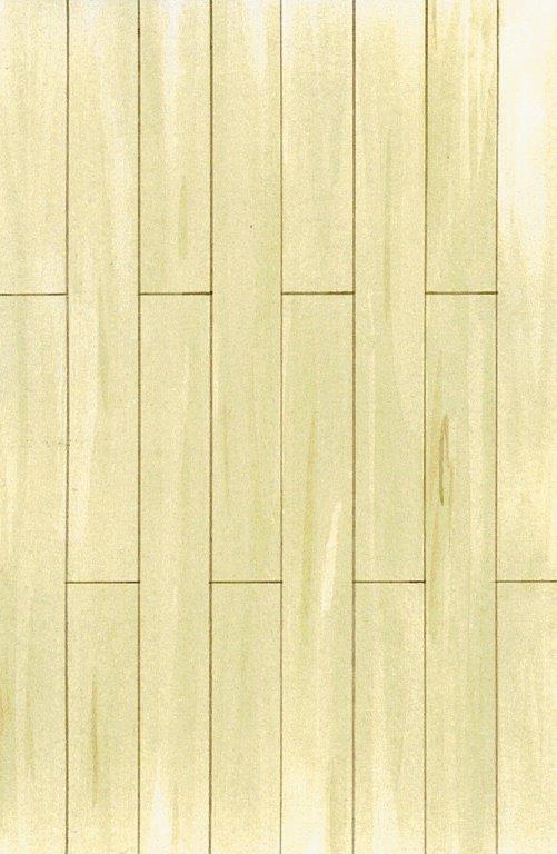 Gulv med gulvbrædder i forskellige længder